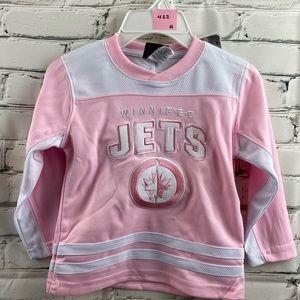 NWT Winnipeg jets kids pink jersey